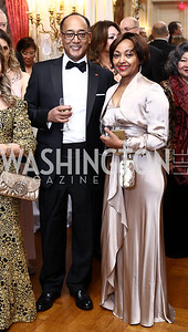 Prince Ermias Sahle Selassie and Saba Kebede. Photo by Tony Powell. 2017 Russian Ball. January 14, 2017