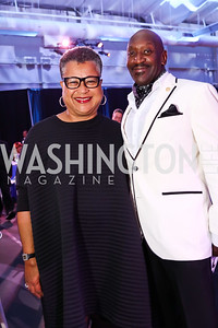 "Marie Johns, Rodney Jordan. Photo by Tony Powell. 2017 ""Tennis Shoes, Ties and After Five"" Gala. SE Tennis & Learning Center. October 27, 2017"