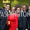 "Michael Roy, Michelle Parker, Robin Wallace, Khyrie Alleyne. Photo by Tony Powell. 2017 ""Tennis Shoes, Ties and After Five"" Gala. SE Tennis & Learning Center. October 27, 2017"