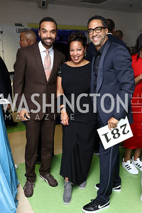 "Jerome Johnson, Janel Merritt, Brian Williams. Photo by Tony Powell. 2017 ""Tennis Shoes, Ties and After Five"" Gala. SE Tennis & Learning Center. October 27, 2017"