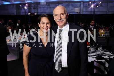 "Ana Harvey, Councilmember Phil Mendelson. Photo by Tony Powell. 2017 ""Tennis Shoes, Ties and After Five"" Gala. SE Tennis & Learning Center. October 27, 2017"