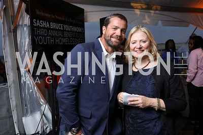 Shinola President Jacques Panis, Debbie Shore. Photo by Tony Powell. Sasha Bruce Sounds of a Bright Future. 101 Constitution. May 1, 2017