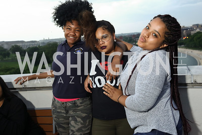 Dayanna White, Lelaine Lozano, Sade Cintron. Photo by Tony Powell. Sasha Bruce Sounds of a Bright Future. 101 Constitution. May 1, 2017