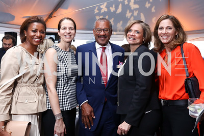 Sela Collins, Carolyn Walker, Dwight Bush, Susan Pullen, Hillary Baltimore. Photo by Tony Powell. Sasha Bruce Sounds of a Bright Future. 101 Constitution. May 1, 2017