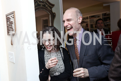Jane Pollner and David Blumenstein. Photo by Tony Powell. 2017 Sips & Suppers. January 29, 2017