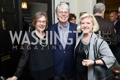 Angela Lancaster and Chuck Muckenfuss, Joan Huffer. Photo by Tony Powell. 2017 Sips & Suppers. January 29, 2017