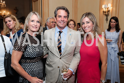 Amy Zantzinger, Stuart Holliday, Charity Wallace. Photo by Tony Powell. 2017 Social Secretaries Reception. Meridian. July 17, 2017