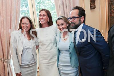 Lee Satterfield, Rickie Niceta, Megan Beyer, Philip Dufour. Photo by Tony Powell. 2017 Social Secretaries Reception. Meridian. July 17, 2017
