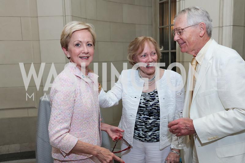 Ann Stock, Lyndon Johnson's Social Secretary Bess Abell and Tyler Abell. Photo by Tony Powell. 2017 Social Secretaries Reception. Meridian. July 17, 2017