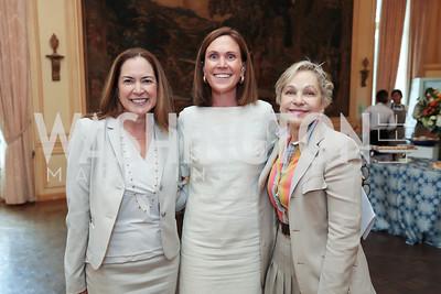 Lee Satterfield, Rickie Niceta, Francesca Craig. Photo by Tony Powell. 2017 Social Secretaries Reception. Meridian. July 17, 2017