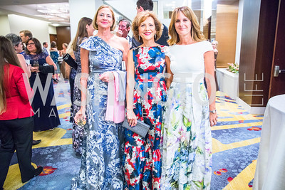 Maria Elena Fisher, Alejandra Segura, Maria Bergeglio. Photo by Alfredo Flores. 2017 Spanish Catholic Center Gala. Washington Marriott Marquis. September 30, 2017