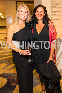 Denise Dufour, Sara Sigrist. Photo by Alfredo Flores. 2017 Spanish Catholic Center Gala. Washington Marriott Marquis. September 30, 2017