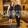 Caitlin Schlageter, Reverend Monsignor Vito A. Buonanno. Photo by Alfredo Flores. 2017 Spanish Catholic Center Gala. Washington Marriott Marquis. September 30, 2017