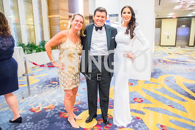 April Delaney, Bret Baier, Amy Baier. Photo by Alfredo Flores. 2017 Spanish Catholic Center Gala. Washington Marriott Marquis. September 30, 2017