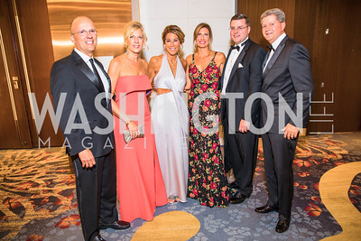 Ricardo Perez, Christy Perez, Lisa Kloster, Kristina Ondeck, Michael Ondeck, Tom Kloster, . Photo by Alfredo Flores. 2017 Spanish Catholic Center Gala. Washington Marriott Marquis. September 30, 2017.dng