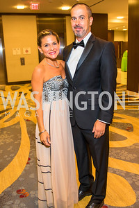 Veronica Martino, Scott Johnson. Photo by Alfredo Flores. 2017 Spanish Catholic Center Gala. Washington Marriott Marquis. September 30, 2017