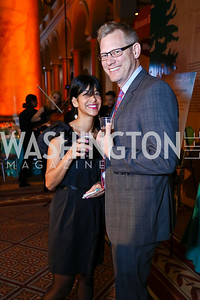 Stacy Puente, Pete Dabrowski. Photo by Tony Powell. 2017 St. Jude Gourmet Gala. Building Museum. February 28, 2017