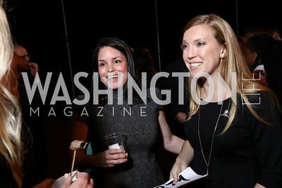Olivia Leonard, Erin Clark. Photo by Tony Powell. 2017 St. Jude Gourmet Gala. Building Museum. February 28, 2017