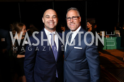Eric Levinson, Phil Casparius. Photo by Tony Powell. 2017 St. Jude Gourmet Gala. Building Museum. February 28, 2017