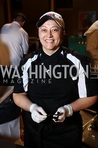 Ruth's Chris Executive Chef Yolanda Ruiz. Photo by Tony Powell. 2017 St. Jude Gourmet Gala. Building Museum. February 28, 2017