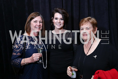 Melinda Wertz, Abigail Wallace, Pat Shrader. Photo by Tony Powell. 2017 St. Jude Gourmet Gala. Building Museum. February 28, 2017