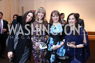 Alaina Giampapa, Casey Sedlock, Traci Simpson, Dara Frey. Photo by Tony Powell. 2017 St. Jude Gourmet Gala. Building Museum. February 28, 2017