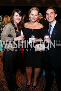 Candace Bryan Abbey, Kate Butler, Liam Libbey. Photo by Tony Powell. 2017 St. Jude Gourmet Gala. Building Museum. February 28, 2017