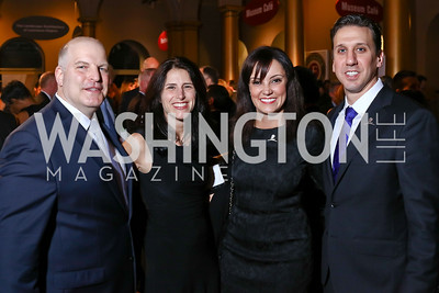 Ken Fitzsimons, Kiley Rotelli, Aline Schellhas, John Amore. Photo by Tony Powell. 2017 St. Jude Gourmet Gala. Building Museum. February 28, 2017