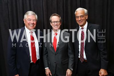 Tom Wertz, Paul Hatch, Rick Shadyac. Photo by Tony Powell. 2017 St. Jude Gourmet Gala. Building Museum. February 28, 2017