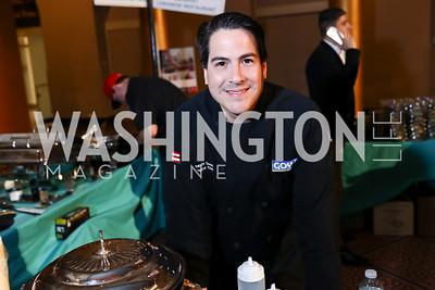 Goya Executive Chef Fernando Desa. Photo by Tony Powell. 2017 St. Jude Gourmet Gala. Building Museum. February 28, 2017