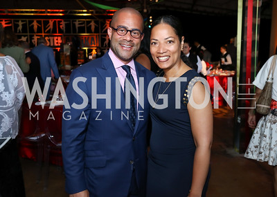 Brett Greene and Tiffani Turner Greene. Photo by Tony Powell. 2017 Step Afrika Gala. Union Market. June 1, 2017
