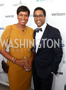 Mayor Muriel Bowser, Brian Williams. Photo by Tony Powell. 2017 Step Afrika Gala. Union Market. June 1, 2017