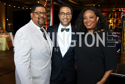 Edmund Fleet, Brian Williams, Kim Bassett. Photo by Tony Powell. 2017 Step Afrika Gala. Union Market. June 1, 2017
