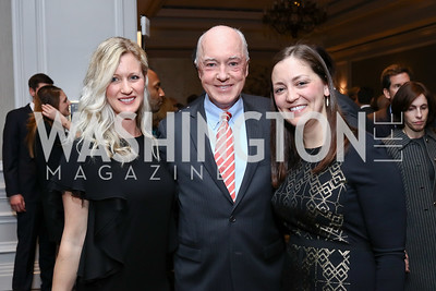 Jen Davis, David Bradley, Amanda Sims Nichols. Photo by Tony Powell. 2017 Teach for America Gala. Ritz Carlton. February 21, 2017