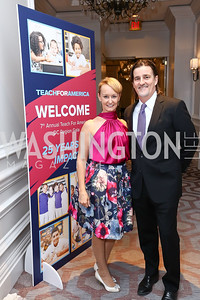 Kristin Ehrgood and Vadim Nikitine. Photo by Tony Powell. 2017 Teach for America Gala. Ritz Carlton. February 21, 2017