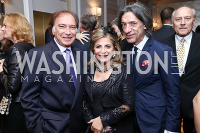 Leo Sahakian, Annie Totah, Septime Webre. Photo by Tony Powell. 2017 Teach for America Gala. Ritz Carlton. February 21, 2017