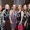 Jane Korhonen, Marianne Powell, April Delaney, Susie Canton, Lee Satterfield, Lori Kusch. Photo by Tony Powell. 2017 Teach for America Gala. Ritz Carlton. February 21, 2017