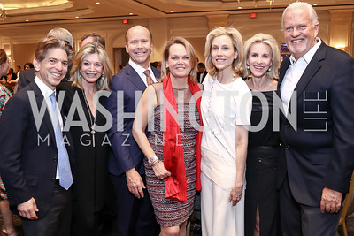 Robert Haft, Kay Kendall, Rep. John Delaney and April Delaney, Katherine Bradley, Mary Haft, Jack Davies. Photo by Tony Powell. 2017 Teach for America Gala. Ritz Carlton. February 21, 2017