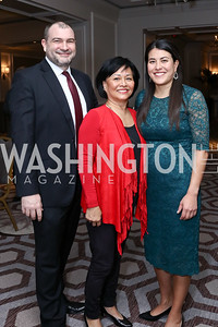 Shane Mulhern, Iris and Adele Fabrikant. Photo by Tony Powell. 2017 Teach for America Gala. Ritz Carlton. February 21, 2017