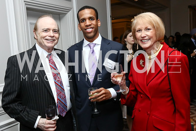 Bill Detty, Habib Abraham, Lola Reinsch. Photo by Tony Powell. 2017 Teach for America Gala. Ritz Carlton. February 21, 2017