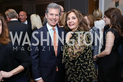 Jeff Weiss, Samia Farouki. Photo by Tony Powell. 2017 Teach for America Gala. Ritz Carlton. February 21, 2017
