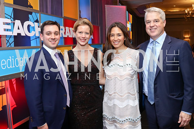Gala Chairs Jeff and Chrissy Brill, Gina and Brooke Coburn. Photo by Tony Powell. 2017 Teach for America Gala. Ritz Carlton. February 21, 2017