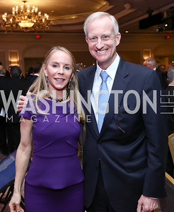 Cindy Jones, Jack Evans. Photo by Tony Powell. 2017 Teach for America Gala. Ritz Carlton. February 21, 2017