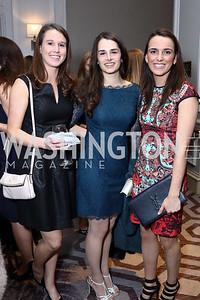 Caitlin Furey, Adriana Smith, Caroline Collins. Photo by Tony Powell. 2017 Teach for America Gala. Ritz Carlton. February 21, 2017