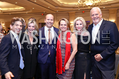 Robert Haft, Kay Kendall, Rep. John Delaney and April Delaney, Mary Haft, Jack Davies. Photo by Tony Powell. 2017 Teach for America Gala. Ritz Carlton. February 21, 2017