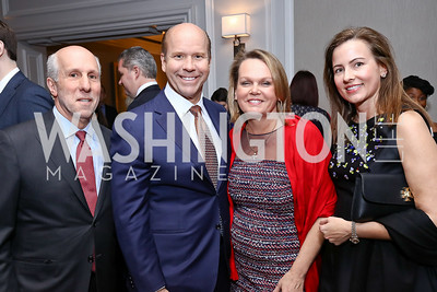 Tom Gage, John Delaney, April Delaney, Jeannie Musselwhite. Photo by Tony Powell. 2017 Teach for America Gala. Ritz Carlton. February 21, 2017