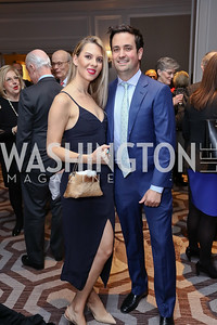 Maryanne Huntsman and Evan Morgan. Photo by Tony Powell. 2017 Teach for America Gala. Ritz Carlton. February 21, 2017