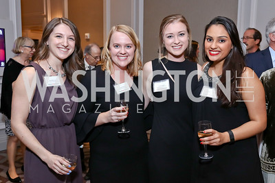 Kate Manning, Kelsey Aubrey, Lauren Capra, Sudeepta Sridhara. Photo by Tony Powell. 2017 Teach for America Gala. Ritz Carlton. February 21, 2017