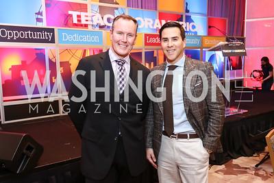 Barry Dixon, Will Thomas. Photo by Tony Powell. 2017 Teach for America Gala. Ritz Carlton. February 21, 2017