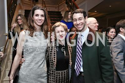 Katherine Boone, Christie Weiss, Joshua Geltzer. Photo by Tony Powell. 2017 Teach for America Gala. Ritz Carlton. February 21, 2017
